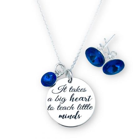 Set colier argint personalizatBig Heart & Cercei Rivoli Cristale [0]