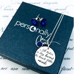 Set colier argint personalizatBig Heart & Cercei Rivoli Cristale [1]