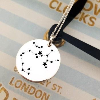 Colier Constelatie Zodie personalizat argint
