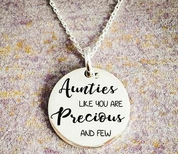 Colier argint personalizat Precious Aunties