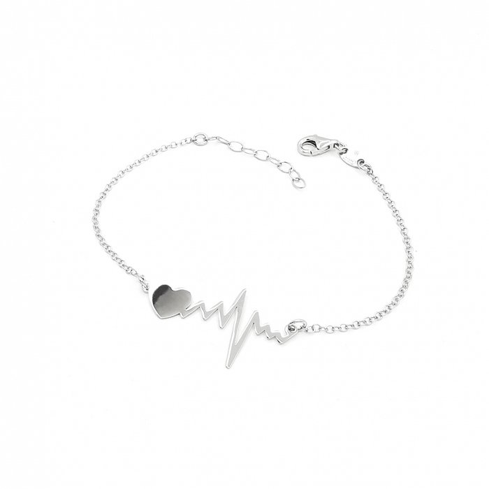 Bratara Dama Argint 925 HeartBeat Bataile Inimii Personal Style [0]