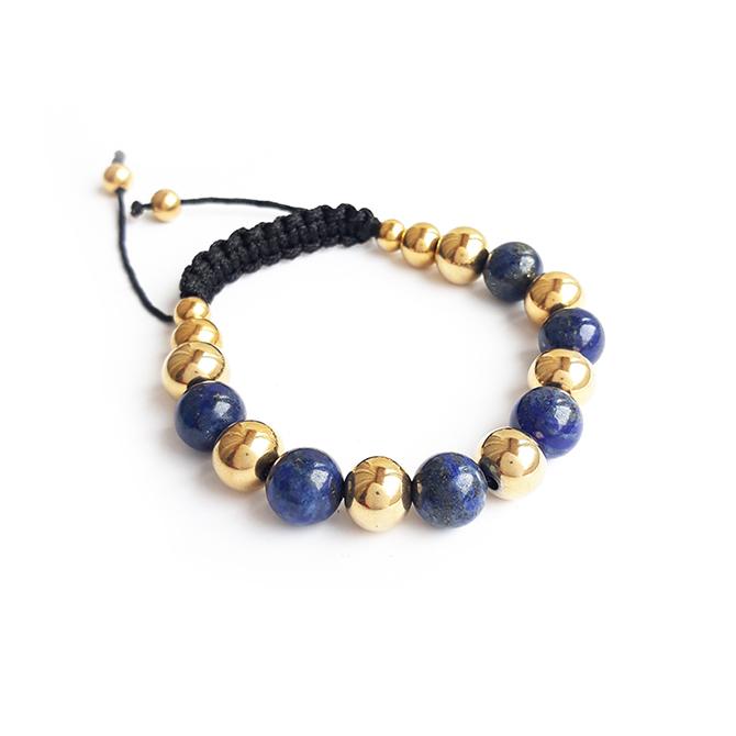 Bratara Piatra Lapis Lazuli Inox [0]