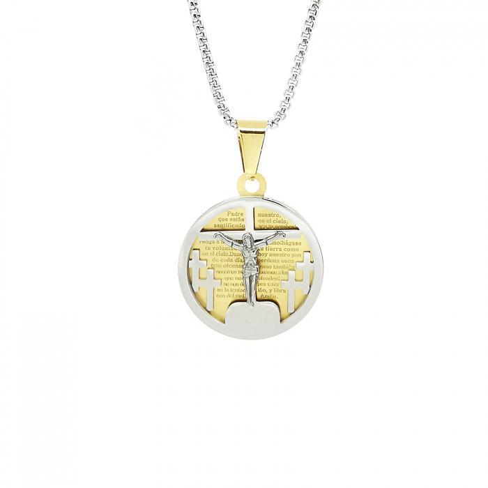 Lant Pandantiv Medalion Pater Nostrum Inox Personal Style [0]
