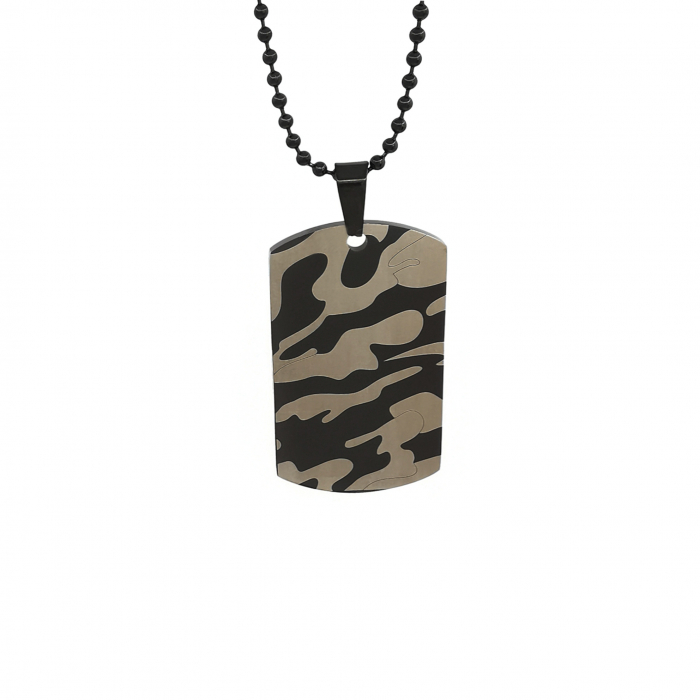 Lant Pandantiv Military Camouflage Dog Tag Inox [0]