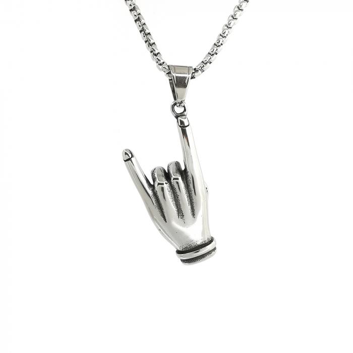 Lant Pandantiv Rock Hand Inox [1]