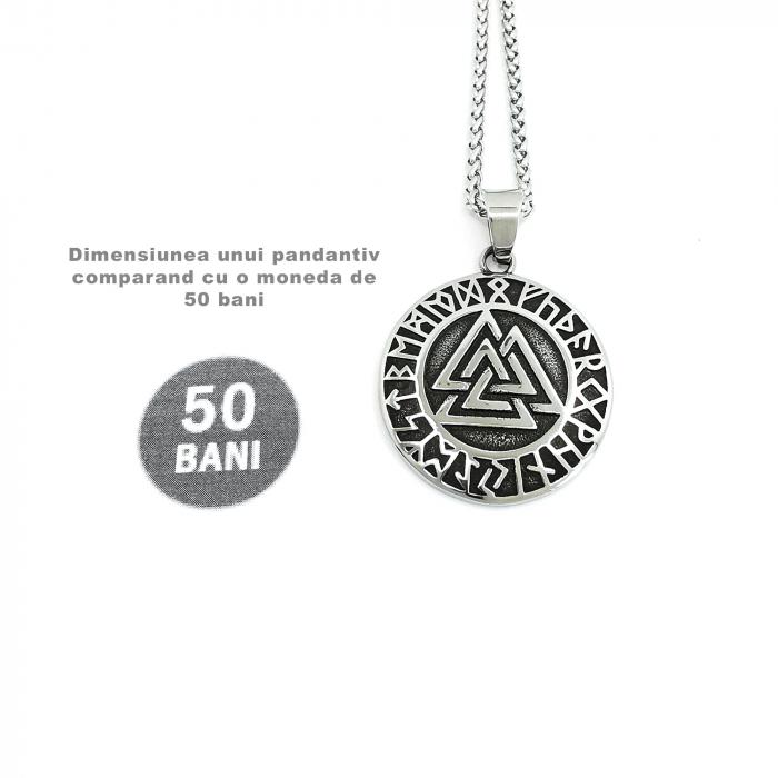 Lant Pandantiv Viking Valknut Rune Inox [2]