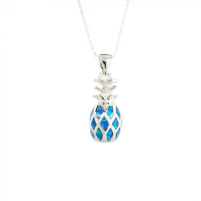Lantisor Pandantiv Ananas Argint Opal [0]