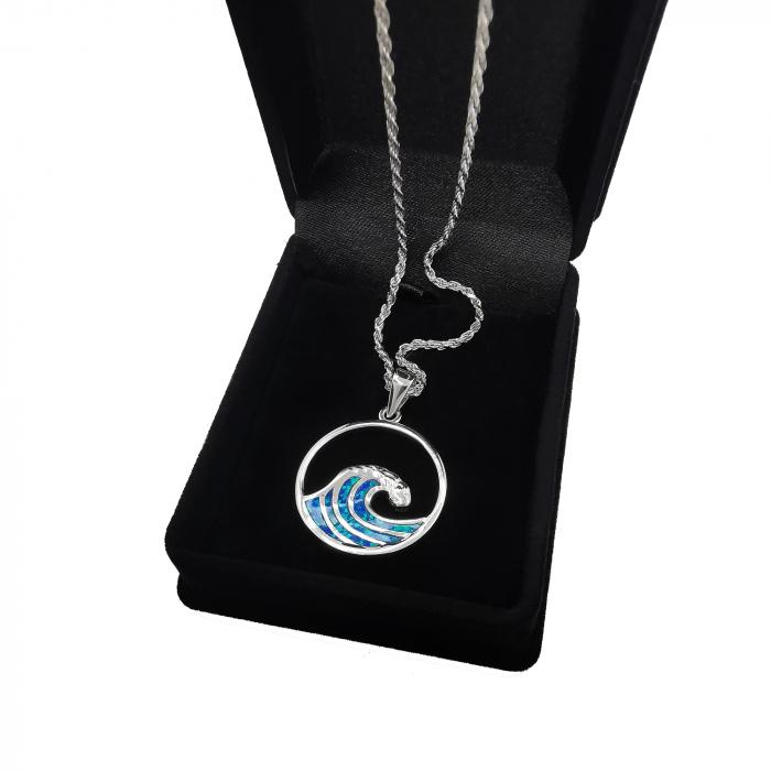 Lant Pandantiv Valuri Argint Opal [1]