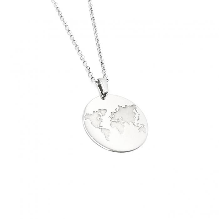 Lantisor Pandantiv Love Earth Argint Personal Style [0]