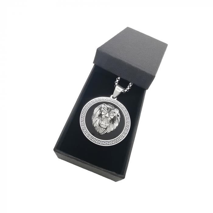 Lant Pandantiv Medalion Lion Inox [1]