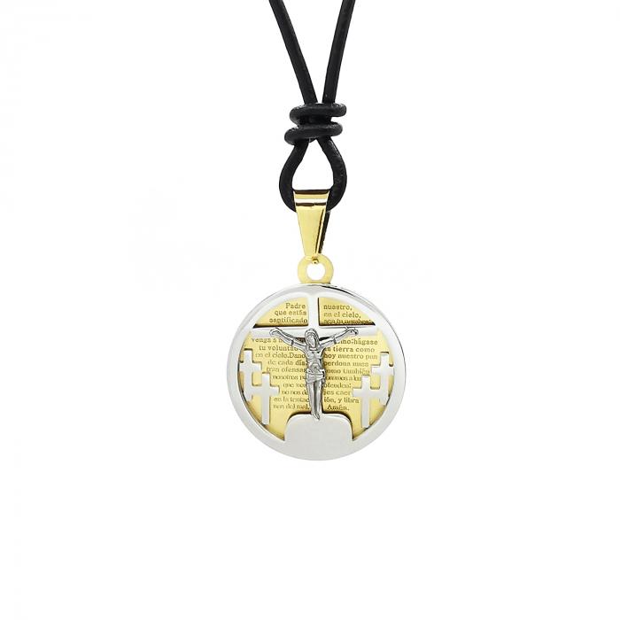 Pandantiv Medalion Snur Pater Nostrum Inox Personal Style [0]