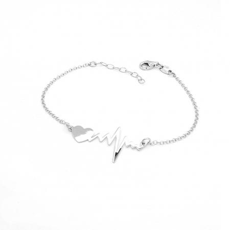 Bratara Dama Argint 925 HeartBeat Bataile Inimii Personal Style [1]