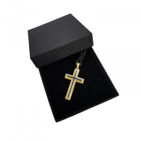 Cruciulita Inox Auriu Negru Snur Personal Style [1]