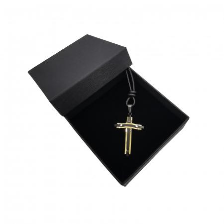 Cruciulita Inox Auriu Negru Snur Personal Style [2]