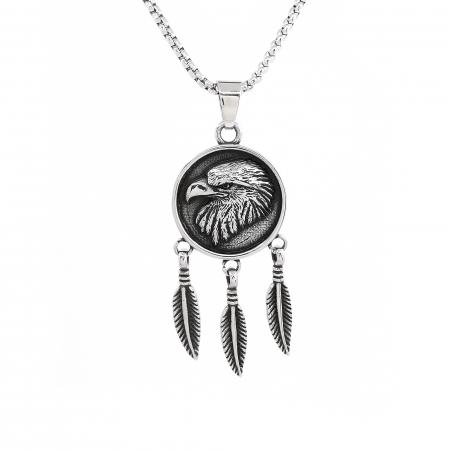 Lant Pandantiv Dreamcatcher Eagle Inox [0]
