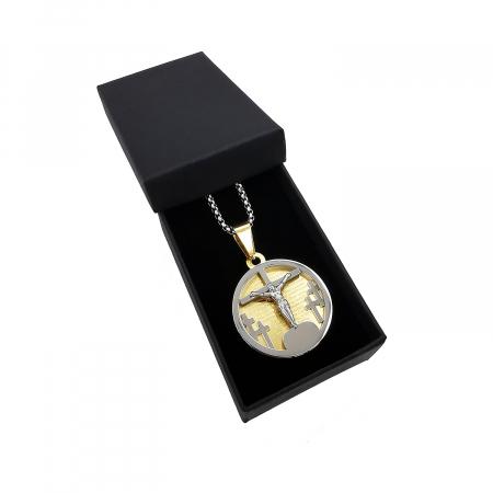 Lant Pandantiv Medalion Pater Nostrum Inox Personal Style [1]