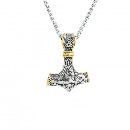 Lant Pandantiv Viking Thor Hammer Inox [0]