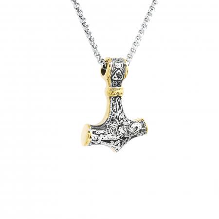 Lant Pandantiv Viking Thor Hammer Inox [1]