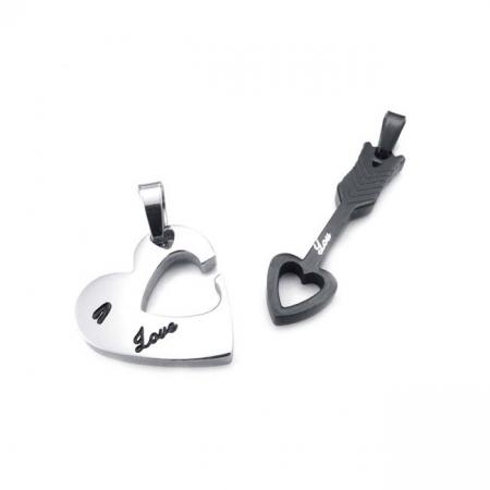 Lantisoare Pandantive Set Lovers Cupidon Inox [1]