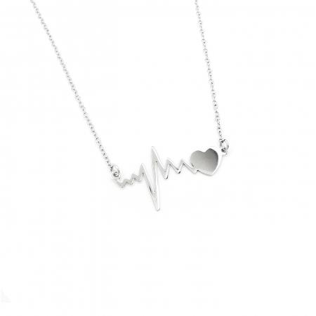 Lantisor Pandantiv HeartBeat Bataile Inimii Argint 925 Personal Style [0]