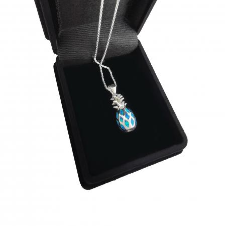 Lantisor Pandantiv Ananas Argint Opal [1]