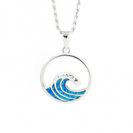 Lant Pandantiv Valuri Argint Opal [0]