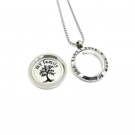 Lant Pandantiv Copacul Vietii Inox [1]