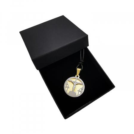 Pandantiv Medalion Snur Pater Nostrum Inox Personal Style [1]