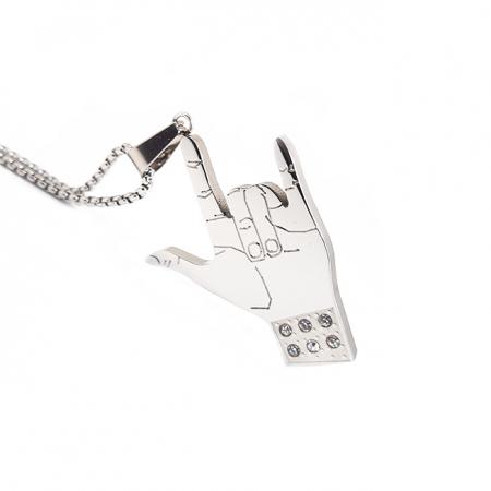 Lant Pandantiv Rock Hand Inox [0]