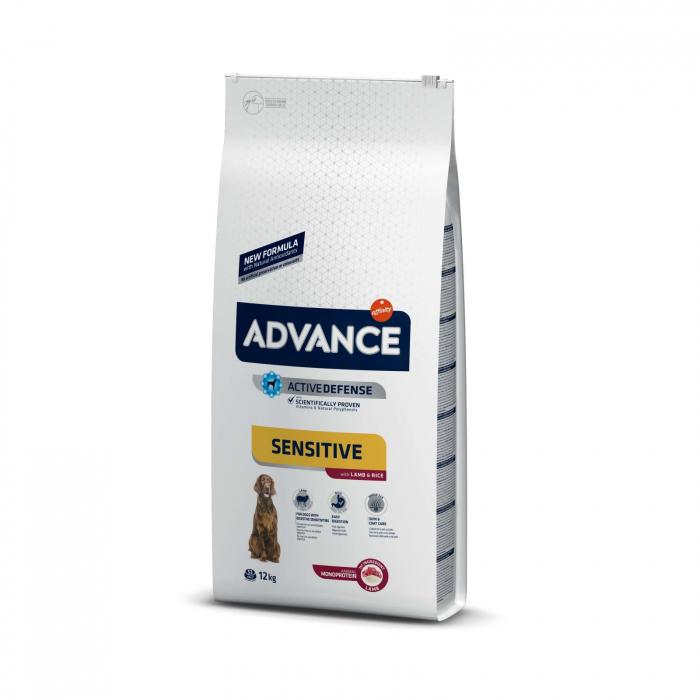 Advance Dog Adult Sensitive Miel si Orez, 12 kg 0