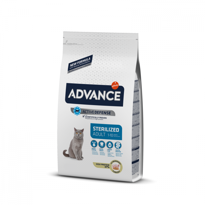 Advance Cat Adult Sterilised cu Curcan, 15 kg [0]