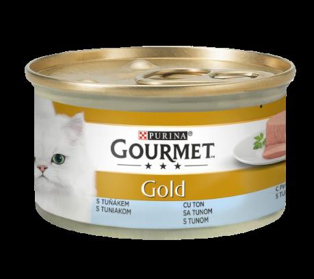 GOURMET GOLD MOUSSE CU TON,Hrana Umeda Pisici, 85g 0