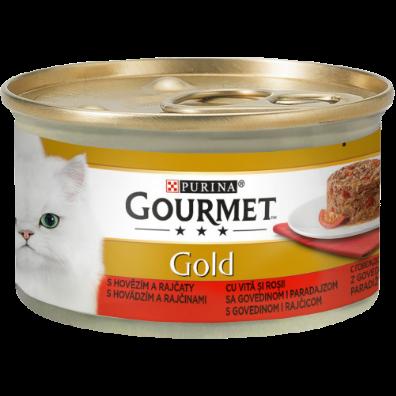 GOURMET GOLD SAVOURY CAKE CU VITĂ ȘI ROȘII, 85g 0