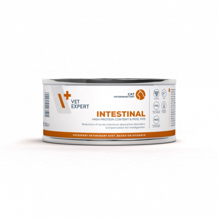 4T Dieta Veterinara pisici Intestinal Cat, VetExpert, conserva, 100g [0]