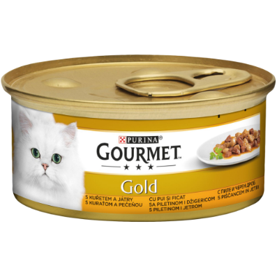 GOURMET GOLD CU PUI ȘI FICAT ÎN SOS, 85g [0]