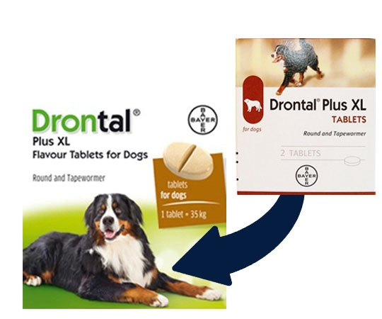 Drontal Plus XL,Cutie 2 tablete 0