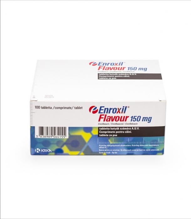Enroxil Flavour 150 mg, 10 comprimate 0
