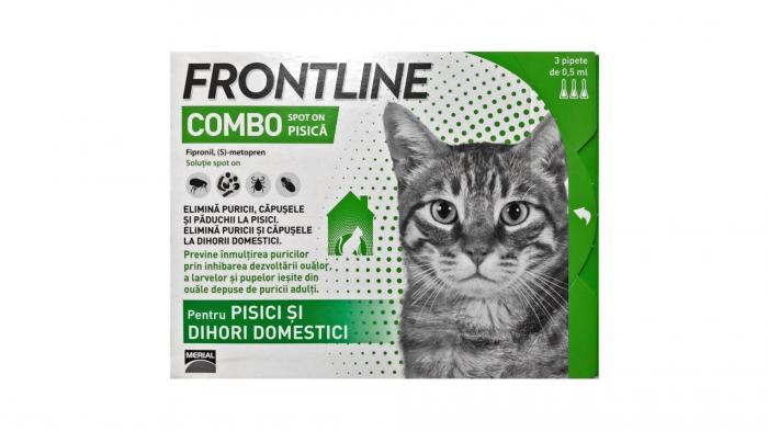 Frontline Combo Pisica, 1 pipeta Antiparazitare 0
