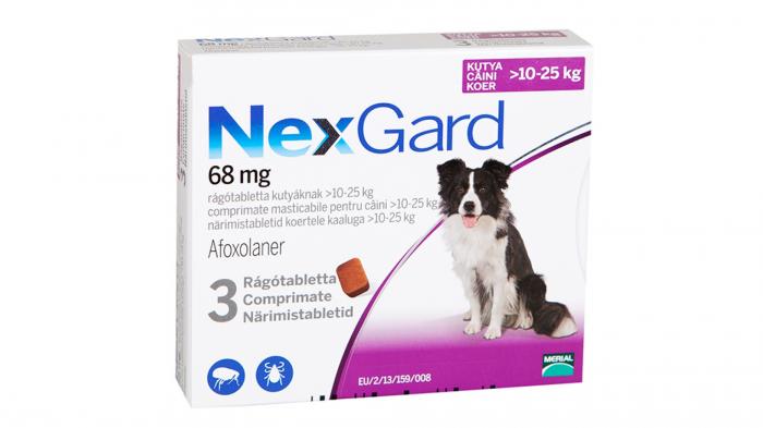 NexGard L comprimate masticabile, 10-25 kg, 3 comprimate 0