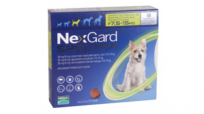 NexGard Spectra M comprimate masticabile, 7.5-15 kg, 3 comprimate 0