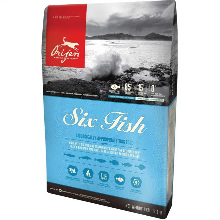 Orijen 6 Pesti Caini – Orijen 6 Fish 11,4 kg [0]