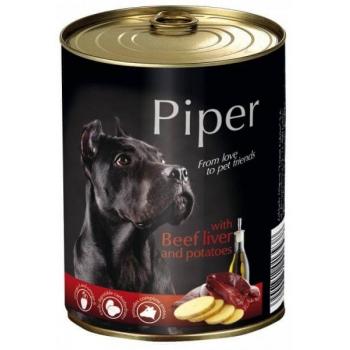 Piper Adult, Hrana Umeda, Ficat de Vita si Cartofi, 400 g [0]