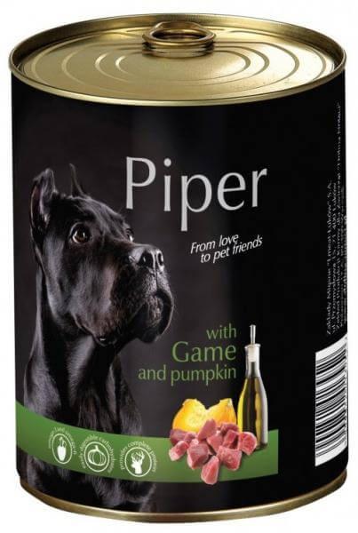 Piper Adult, Hrana Umeda, Carne de Vanat si Dovleac, 400 g 0
