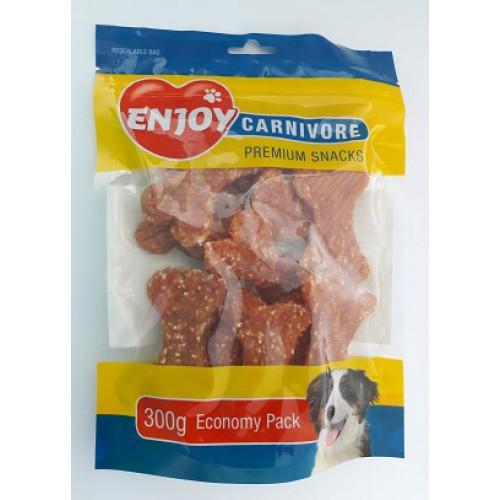 Recompense pentru caini Enjoy Carnivore oase cu pui si orez 300 g [0]