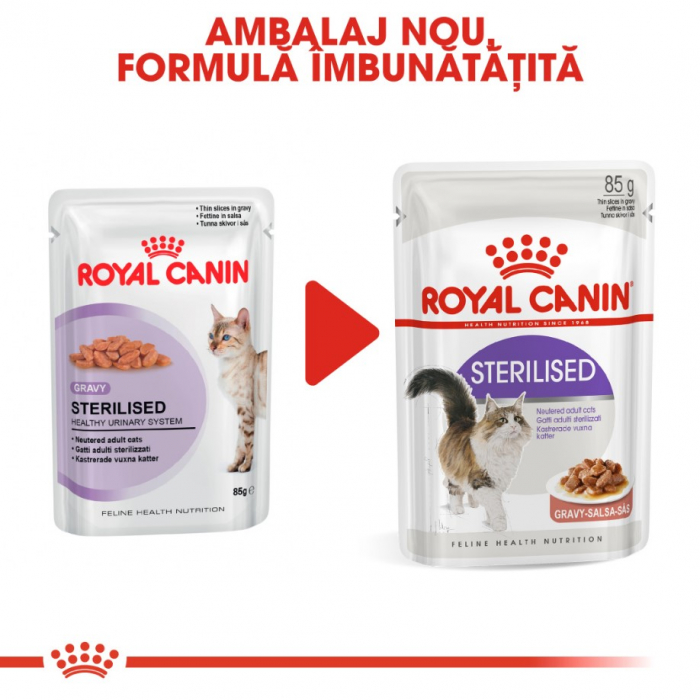 Royal Canin Feline Sterilised Gravy 12 plicuri X 85 g 4