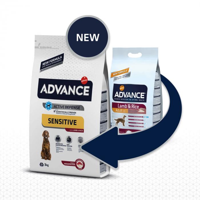 Advance Dog Adult Sensitive Miel si Orez, 12 kg 1