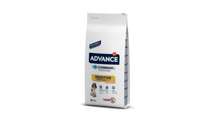 Advance Dog Sensitive Medium - Maxi Somon & Orez, 12 kg 0