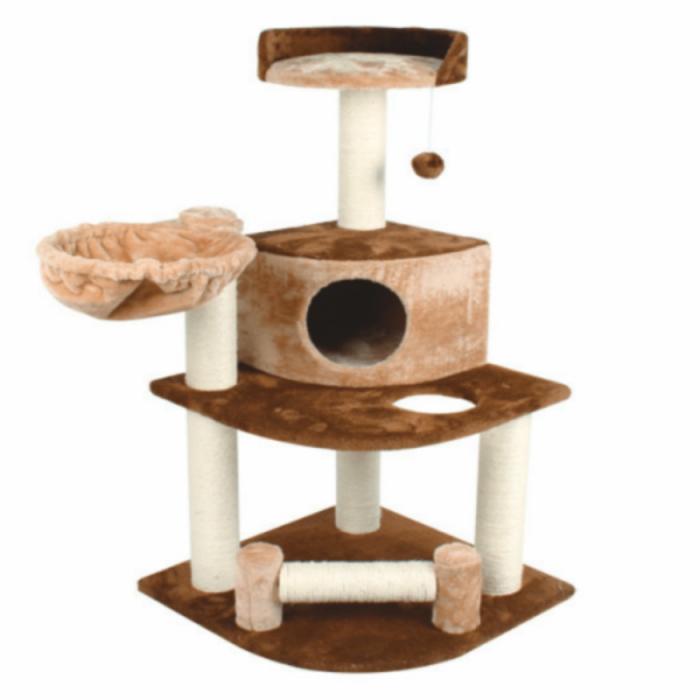 Ansamblu de joaca cu etaj pentru pisici 54x54x107 cm 0
