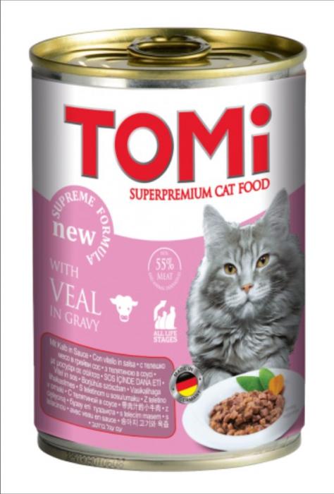 Conserva hrana umeda Tomi pisica cu Vitel, 400 g 0