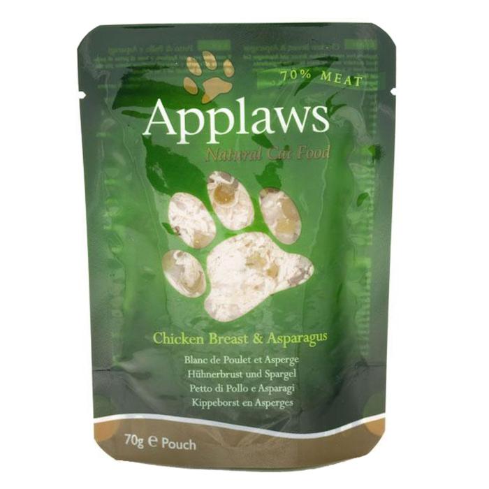 Applaws plic hrana umeda pisici Piept de Pui şi Sparanghel 12x70 g 0